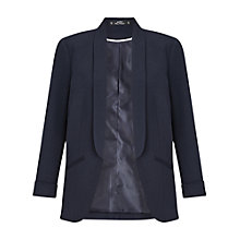 Buy Miss Selfridge Petite Pocket Detail Ponte Jacket, Navy Online at johnlewis.com