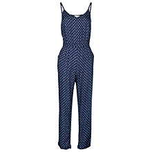 Buy Fat Face Jenny Batik Ditsy Print Jumpsuit, Navy Online at johnlewis.com