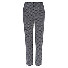Buy Hobbs Elenore Trousers, Navy Ivory Online at johnlewis.com