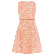 Buy Coast Daisy-Lou Jacquard Dress, Watermelon Online at johnlewis.com