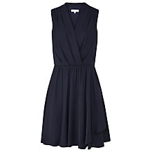 Buy Reiss Electra Draped Dress, Night Navy Online at johnlewis.com