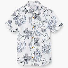 Buy Mango Kids Boys' Palm Leaf Print Shirt, White Online at johnlewis.com