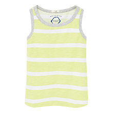 Buy Mango Kids Boys' Stripe Vest Top, Green Online at johnlewis.com