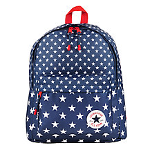 Buy Converse Children's Star Print Backpack, Navy/White Online at johnlewis.com