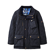 Buy Joules Boys' Stafford Quilted Jacket, Navy Online at johnlewis.com