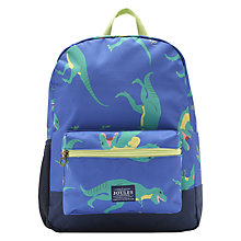 Buy Little Joule Children's Junior Patchback Rucksack, Navy Online at johnlewis.com