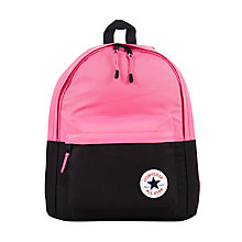 Buy Converse Children's Colour Block Backpack, Pink/Black Online at johnlewis.com