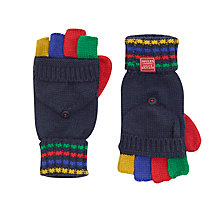 Buy Little Joule Children's Hayden Mitten Gloves, French Navy/Multi Online at johnlewis.com