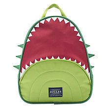 Buy Little Joule Children's Junior Buddie Dinosaur Rucksack, Green Online at johnlewis.com