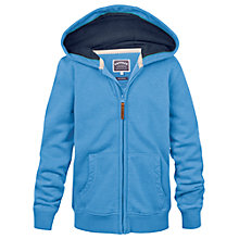 Buy Fat Face Boys' Zip Through Hoodie, Blue Online at johnlewis.com
