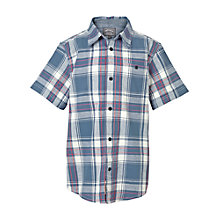 Buy Fat Face Boys' Cambourne Check Shirt, Blue Online at johnlewis.com