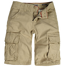 Buy Fat Face Boys' Tenby Cargo Shorts, Stone Online at johnlewis.com