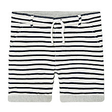 Buy Mango Kids Boys' Stripe Shorts, White/Blue Online at johnlewis.com