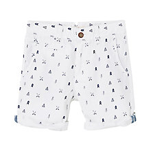 Buy Mango Kids Boys' Graphic Print Shorts, White Online at johnlewis.com