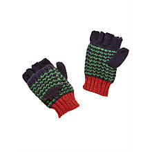Buy John Lewis Children's Chevron Flip Stripe Gloves, Green Online at johnlewis.com