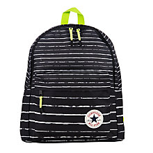 Buy Converse Children's All Star Stripe Print Backpack, Black/White Online at johnlewis.com