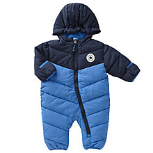 Buy Converse Baby Colour Block Snowsuit, Oxygen Blue Online at johnlewis.com