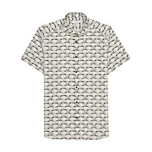 Buy Reiss Tunbridge Linen Blend Short Sleeve Shirt, White Online at johnlewis.com