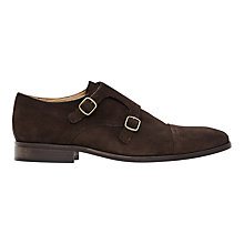 Buy Reiss Felix Double Monk Strap Shoes, Dark Brown Online at johnlewis.com