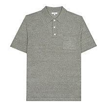Buy Reiss Hendrick Merino Linen Polo Shirt Online at johnlewis.com
