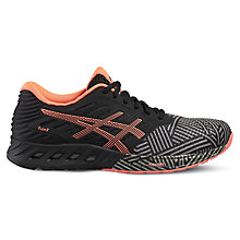 Buy Asics Fuzex Women's Running Shoes, Black/Pink Online at johnlewis.com