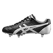 Buy Asics Jet ST Men's Rugby Boots, Black/White Online at johnlewis.com