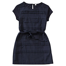 Buy Jigsaw Girls' Pleated Front Layered Dress, Navy Online at johnlewis.com