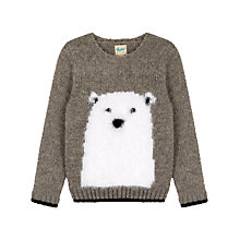 Buy Yumi Girl Polar Bear Jumper, Grey Online at johnlewis.com
