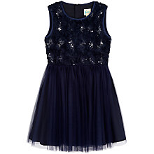 Buy Yumi Girl Textured Floral Prom Dress, Navy Online at johnlewis.com