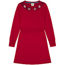 Buy Yumi Girl Embellished Collar Jumper Dress, Fuchsia Online at johnlewis.com