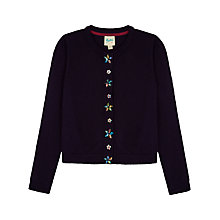 Buy Yumi Girl Gem Placket Cardigan, Navy Online at johnlewis.com