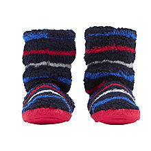 Buy Joules Children's Padabout Multistripe Slippers, Navy Online at johnlewis.com