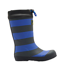 Buy Joules Children's Striped Wellington Boots, Navy Online at johnlewis.com