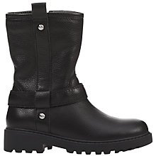 Buy Geox Children's Casey J Leather Zip Boots, Black Online at johnlewis.com