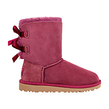 Buy UGG Children's Bailey Bow Boots, Bougainvillea Online at johnlewis.com