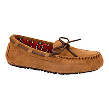 Buy UGG Children's Ryder Jungle Slippers, Chestnut Online at johnlewis.com