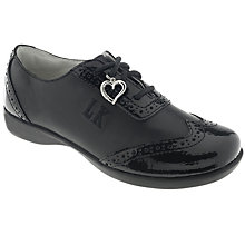 Buy Lelli Kelly Kimberley Leather Brogues, Black Online at johnlewis.com