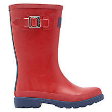 Buy Little Joule Children's Field Wellingtons Boots, Red Online at johnlewis.com