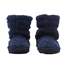 Buy Joules Children's Padabout Slippers, Navy Online at johnlewis.com