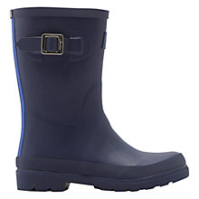 Buy Little Joule Children's Plain Buckle Wellington Boots, Navy Online at johnlewis.com