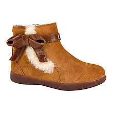 Buy UGG Children's Libbie Suede Ankle Boots, Chestnut Online at johnlewis.com