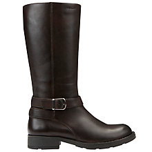Buy Geox Children's Jr Sofia Leather Boots, Coffee Online at johnlewis.com
