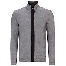 Buy BOSS Green C-Fossa Sweatshirt Jacket, Grey Online at johnlewis.com