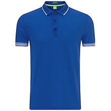 Buy BOSS Green Paule Polo Shirt, Medium Blue Online at johnlewis.com