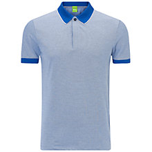 Buy BOSS Green Piro Polo Shirt, Medium Blue Online at johnlewis.com