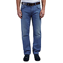 Buy BOSS Green C-Maine Regular Straight Jeans, Bright Blue Online at johnlewis.com