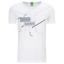 Buy BOSS Green Tee Graphic T-Shirt, White Online at johnlewis.com