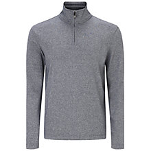 Buy BOSS Green C-Piceno Quarter Zip Sweatshirt, Grey Online at johnlewis.com