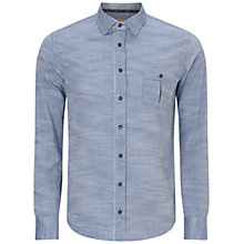 Buy BOSS Orange Eslime Long Sleeve Shirt, Dark Blue Online at johnlewis.com