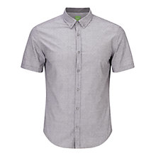 Buy BOSS Green C-Baldasarino Shirt, Open Grey Online at johnlewis.com